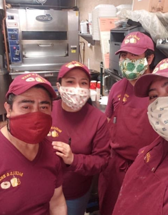 hands on masks bond on broadway restaurant